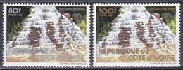 Elfenbeinküste Ivory Coast Cote D'Ivoire 1982 Natur Nature Wasserfälle Wasserfall Waterfalls Man, Mi. 763-4 ** - Côte D'Ivoire (1960-...)