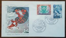 Algérie - FDC 1967 - YT N°453, 454 - Jeux Olympiques De Grenoble - Algerien (1962-...)