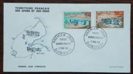 Afars Et Issas - FDC 1968 - YT N°338, 339 - Postes Administratifs / Ali Adde / Dorra - Afars Et Issas (1967-1977)