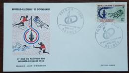 Nouvelle Calédonie - FDC 1966 - YT N°332 - Jeux Du Pacifique Sud / Sport - FDC