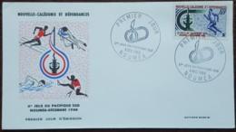 Nouvelle Calédonie - FDC 1966 - YT N°334 - Jeux Du Pacifique Sud / Sport - FDC