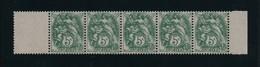BLANC  -  5 C. **  Vert  Type  IA - 1900-29 Blanc