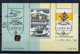 ALAND 1993 - INDIPENDENZA POSTALE DALLA FINLANDIA - FOGLIETTO - USATO - Aland