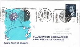 31022. Carta SANTA CRUZ TENERIFE (Canarias) 1985. Observatorios Astrofisicos - 1931-Hoy: 2ª República - ... Juan Carlos I