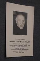 Curé,l'abbé Ernest Dehant,né à Gesves 1884,curé De Le Roux,décédé En 1968 - Décès