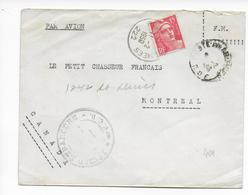 1950 - GANDON - LETTRE Par AVION Du SP 222 (LEGION ETRANGERE) INDOCHINE => MONTREAL (CANADA) - Marcophilie (Lettres)