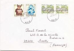 POLOGNE ENVELOPPE DU 4 FEVRIER 2000 DE WOLOW POUR AMILLY - 1944-.... République