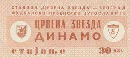 FK Crvena Zvezda Red Star Beograd Belgrade NK Dinamo Zagreb 1975. Ticket Fc Football Yugoslavia Serbia Croatia - Tickets D'entrée