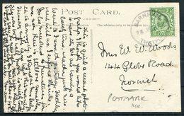 1912 GB Kilverstone Church Postcard. Barnham Thetford  Skeleton Postmark - Covers & Documents