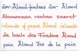 Aland 2009 Mint Postage Paid Postal Card Islands Of Peace - Aland