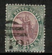ST.KITTS NEVIS   Scott # 1 VF USED (Stamp Scan # 439) - St.Christopher-Nevis-Anguilla (...-1980)