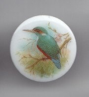 Pin's En Porcelaine Thoscas Limoges  Oiseaux Réf 3368 - Dieren