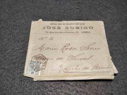 ANTIQUE PORTUGAL CIRCULATED COVER LISBOA TO SEIXAL D. MANUEL II STAMP 1907 - 1910 : D.Manuel II