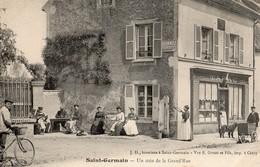 Saint-Germain   77   Un Coin De La Grand'Rue -Tres Animé-Tabac(Buraliste Et Facteur En Tournée - Francia