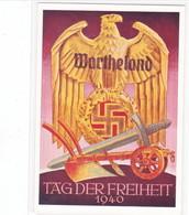 """Propaganda Karte, """" Wartheland, Tag Der Freiheit """" Stempel POSEN - Weltkrieg 1939-45"""