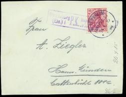 S7442 - DR Briefvorderseite Mit Obersegment Stempel Und Zensur Strassburg:gebraucht Wernersheim Unterelsass - Han. Mün - Lettres & Documents