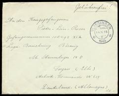S7404 - DR Niederlande Kriegsgefangenen Briefumschlag: Gebraucht Vlissingen - Lager Stalag IV D Torgau 1943 ,Bedarfser - Allemagne