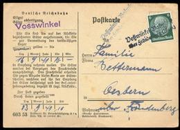 S7328 - DR Postkarte Reichsbahn Mit Station Stempel Landpoststempel : Gebraucht Voßwinkel Bahnhof über Fröndenberg Ruh - Briefe U. Dokumente