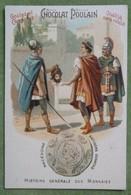 """Chromo Gaufrée, Série """"HISTOIRE GENERALE DES MONNAIES"""" - N°18 MACEDOINE (Lagides : Antigone Gonatas) - Poulain"""