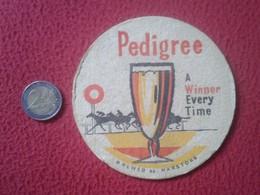 POSAVASOS COASTER MAT PEDIGREE ALE ? CERVEZA ? BEER BIER ? CERVEJA ? WINNERS OF THE TURF HORSE RACE RIDE 1953-PINZA RARE - Portavasos