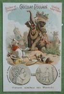 """Chromo Gaufrée, Série """"HISTOIRE GENERALE DES MONNAIES"""" - N°15 SYRIE (Séleucides : Antiochus Le Grand) - Poulain"""