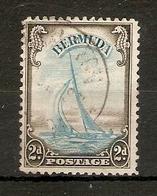BERMUDA 1938 2d YACHT LIGHT BLUE AND SEPIA SG 112 FINE USED Cat £10 - Bermuda