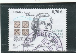 FRANCE 2016 SOPHIE GERMAIN OBLITERE  YT 5036 - - France
