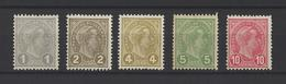 LUXEMBOURG. YT   N° 69/73  Neuf *  1895 - 1895 Adolphe Right-hand Side