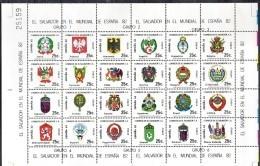 SALVADOR  Feuillet    PA 521/44  * *     Cup 1982     Football  Soccer  Fussball Armoiries - World Cup