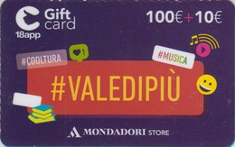 Gift Card Italy Mondadori Valedipiù 100 - Gift Cards