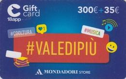Gift Card Italy Mondadori Valedipiù 300 - Gift Cards