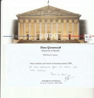 A 1 - Voeux 2009 De Madame La Députée De THIONVILLE - CATTENOM - Faire-part