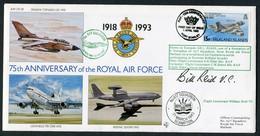 1993 Falkland Islands Royal Air Force Signed (Bill Reid VC) RAF Marham. Dam Busters 617 Squadron Victoria Cross - Falkland Islands