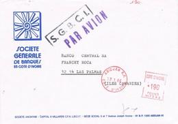 31037. Carta Aerea ABIDJAN (Costa Del Marfil) Cote D'Ivoire 1986. Franqueo Mecanico - Costa De Marfil (1960-...)