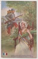 26540 Guerre 1914 1918 Dessin Soldat Canon Fusil Victoire Fleurs Palmes Victoire - éd : LVC U3 - War 1914-18