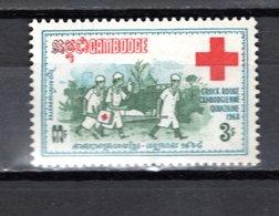 CAMBODGE N° 213  NEUF SANS CHARNIERE COTE  3.20€  CROIX ROUGE - Cambodge