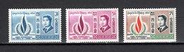 CAMBODGE N° 216 à 218  NEUFS SANS CHARNIERE COTE  2.50€  DROITS DE L'HOMME - Cambodge