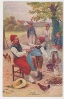 26542 Guerre 1914 1918 Dessin Soldat Turco Cuisine Poule Enfant Conscrit - éd : LVC Besrou Ou Bessaou - War 1914-18