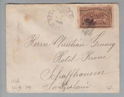 USA 1898-11-02 Deer Lodge City Brief Nach Schaffhausen CH - 1847-99 Emissions Générales