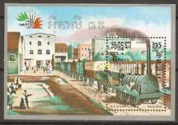 Kampuchea  1985  SG  669  Italia 85 Miniature Sheet  Fine Used - Kampuchea