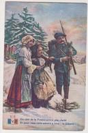 26544 Guerre 1914 1918 Dessin Soldat Montagnard Bleu Beret Alsace Lorraine éd LVC U 6 - War 1914-18