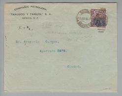 Mexico 1925-08-12 Mexico Brief Mit 5 Cent Nach Ciudad - Mexique