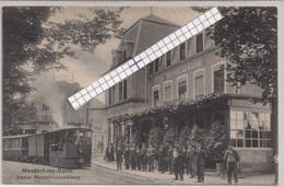 MONDORF LES BAINS -STATION AVEC TRAM A VAPEUR-EDIT.BELLWALD,ECHTERNACH N°695 - Mondorf-les-Bains