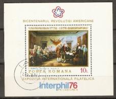Romania 1976 SG 4196 Signing  USA Independence   Miniature Sheet Unmounted Mint - 1948-.... Republics