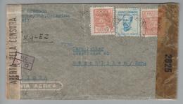 Brasilien 194? 3-fach Zensurbrief Nach Rüschlikon CH - Lettres & Documents