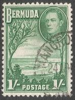 Bermuda. 1938-52 KGVI. 1/- Used. SG 115 - Bermuda