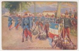 26547 Guerre 1914 1918 Dessin Soldat Guerre Halte Drapeau Fusil -éd LVC - War 1914-18