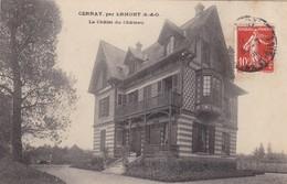 78. CERNAY PAR ERMONT. CPA. RARETÉ . LE CHALET DU CHÂTEAU. ANNEE 1909 + TEXTE - Cernay-la-Ville