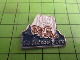 AB18-3 Pins Pin's / Rare & Belle Qualité THEME BATEAUX / BATEAU DE PECHE LE BATEAU IVRE Sans Doute Breton Alors - Bateaux