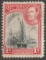 Bermuda. 1938-52 KGVI. 1d Used. SG 110 - Bermuda